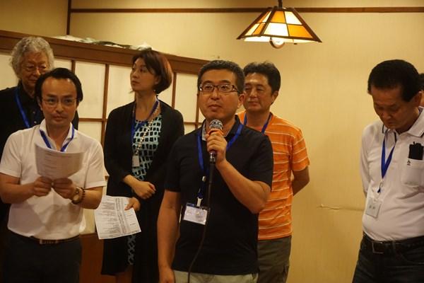 広島銀行・上海支店の支店長さん。わざわざ駆け付けてくださいました!
