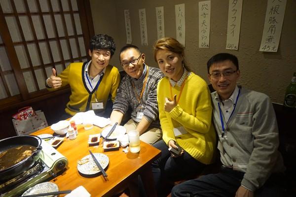 広島文化学園大学の先生と卒業生と大連事務局の先生と ^O^